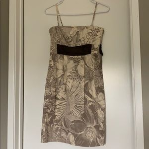 MAEVE Brown/Cream Floral Dress - Sz 2